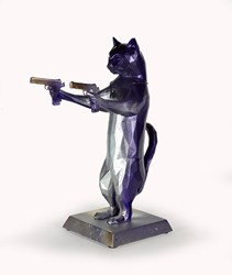 Rebel With The Paws (Purple Haze) by Maxim - Original Sculpture sized 12x17 inches. Available from Whitewall Galleries